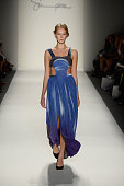 A model walks the runway at the Supima Spring 2014 fashion show during MercedesBenz Fashion Week at The Studio at Lincoln Center on September 5 2013...