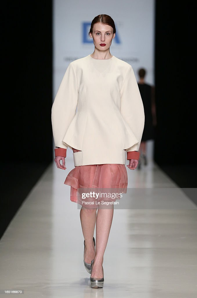 A model walks the runway at the Tea Chakhnashvili for the Domus Academy Collective Show during Mercedes-Benz Fashion Week Russia Fall/Winter 2013/2014 at Manege on April 1, 2013 in Moscow, Russia.