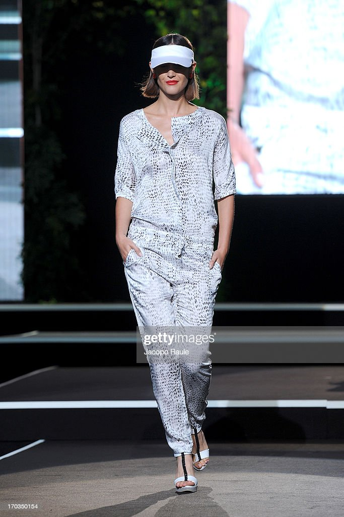 A model walks the runway at the Ter de Caractere fashion show during Glamour Live Show on June 11, 2013 in Milan, Italy.