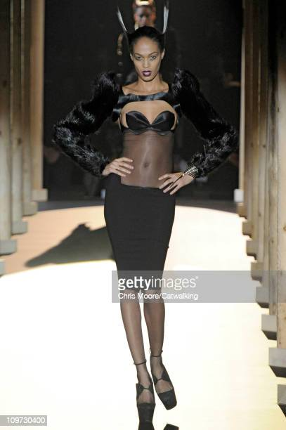 A model walks the runway at the Thierry Mugler fashion show during Paris Fashion Week on March 2 2011 in Paris France