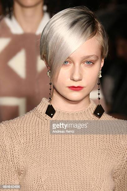 A model walks the runway at the Tod's show during the Milan Fashion Week Autumn/Winter 2015 on February 27 2015 in Milan Italy
