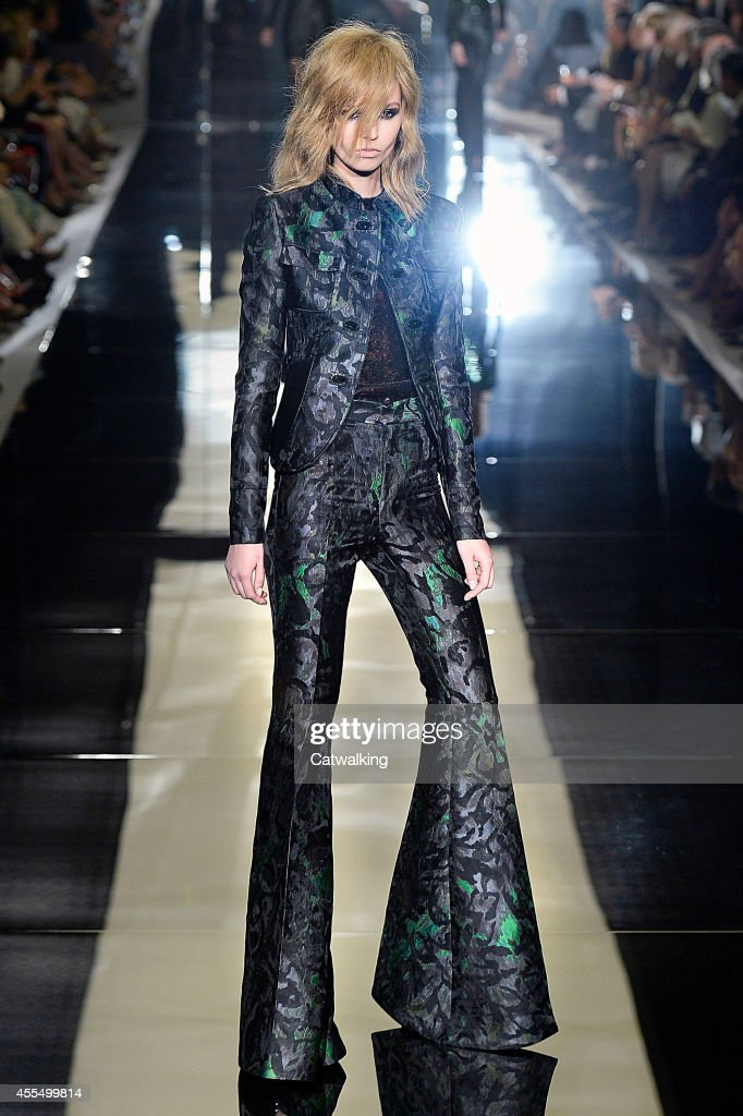 A model walks the runway at the Tom Ford Spring Summer 2015 fashion show during London Fashion Week on September 15 2014 in London United Kingdom