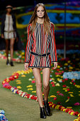 A model walks the runway at the Tommy Hilfiger Spring Summer 2015 fashion show during New York Fashion Week on September 8 2014 in New York United...