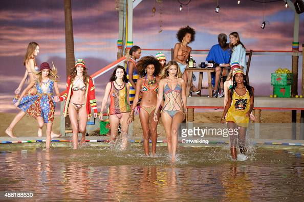 A model walks the runway at the Tommy Hilfiger Spring Summer 2016 fashion show during New York Fashion Week on September 14 2015 in New York United...