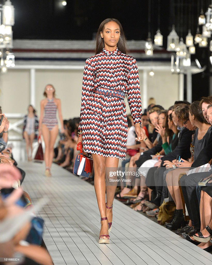 A model walks the runway at the Tommy Hilfiger Women's Spring 2013 fashion show during Mercedes-Benz Fashion Week on September 9, 2012 in New York City.
