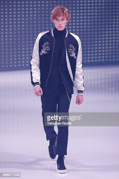 A model walks the runway at the Topman fashion show during the Bread Butter by Zalando at arena Berlin on September 3 2016 in Berlin Germany