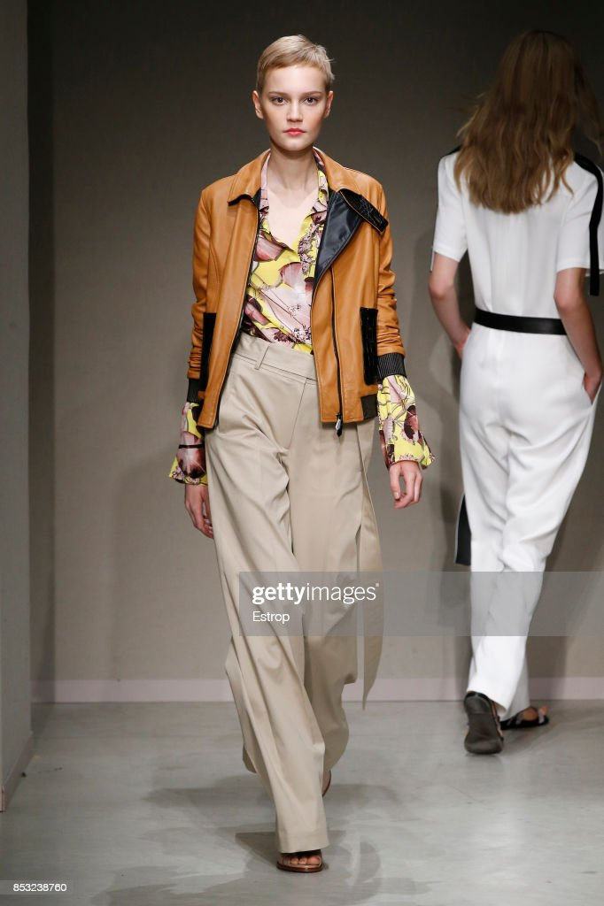 model-walks-the-runway-at-the-trussardi-show-during-milan-fashion-picture-id853238760