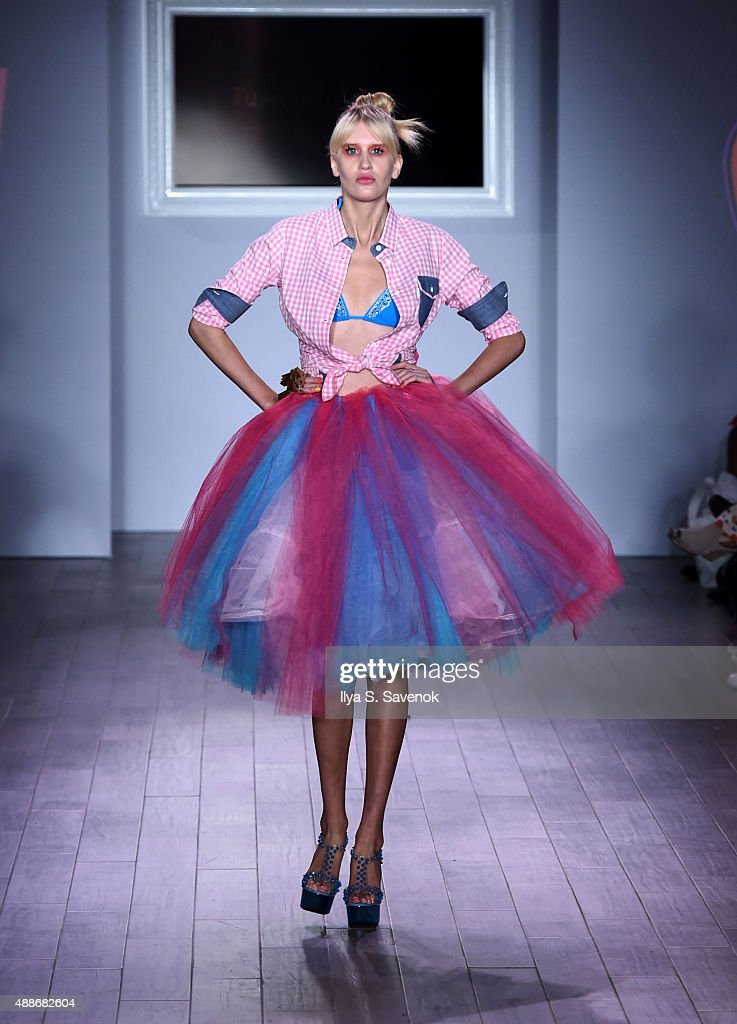 A model walks the runway at the Tumbler And Tipsy By Michael Kuluva fashion show during Style360 Spring 2016 on September 16 2015 in New York City