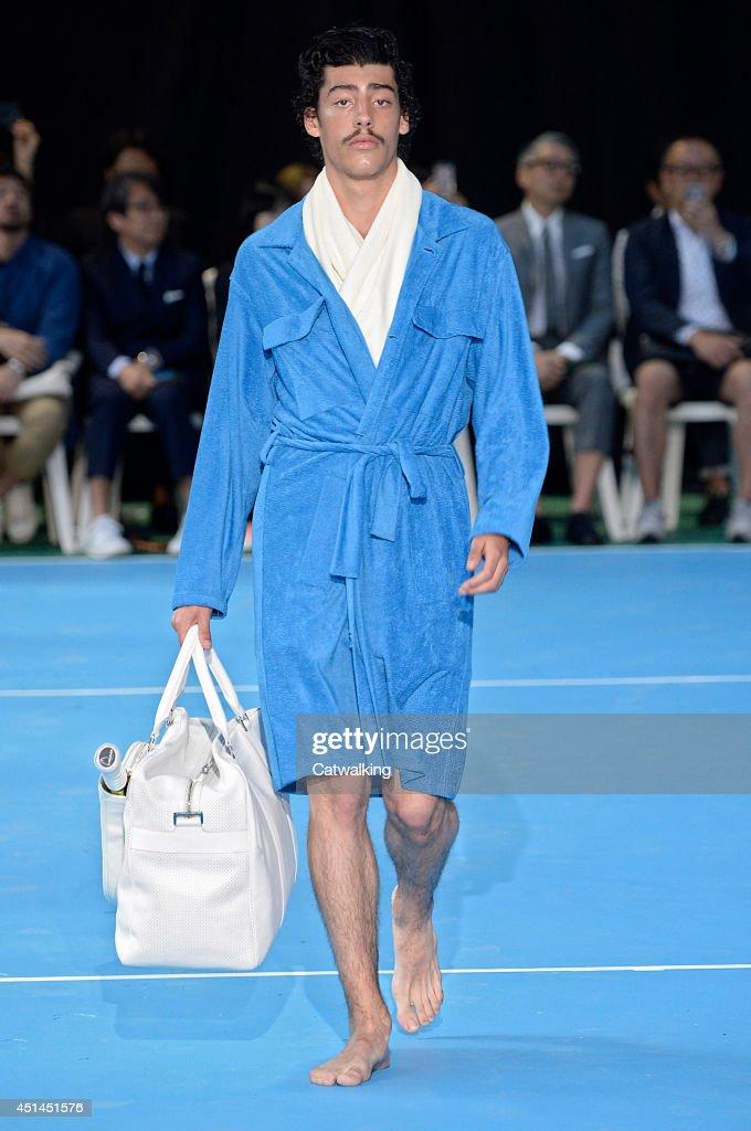 A model walks the runway at the Umit Benan Spring Summer 2015 fashion show during Paris Menswear Fashion Week on June 29, 2014 in Paris, France.