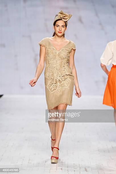 A model walks the runway at the Van Bery show during MercedesBenz Fashion Days Zurich 2013 on November 16 2013 in Zurich Switzerland