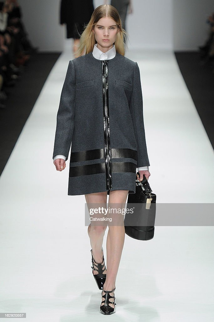 A model walks the runway at the Vanessa Bruno Autumn Winter 2013 fashion show during Paris Fashion Week on March 1, 2013 in Paris, France.