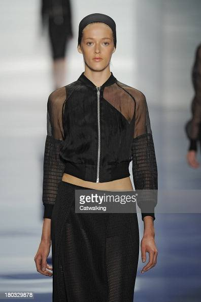 A model walks the runway at the Vera Wang Spring Summer 2014 fashion show during New York Fashion Week on September 10 2013 in New York United States