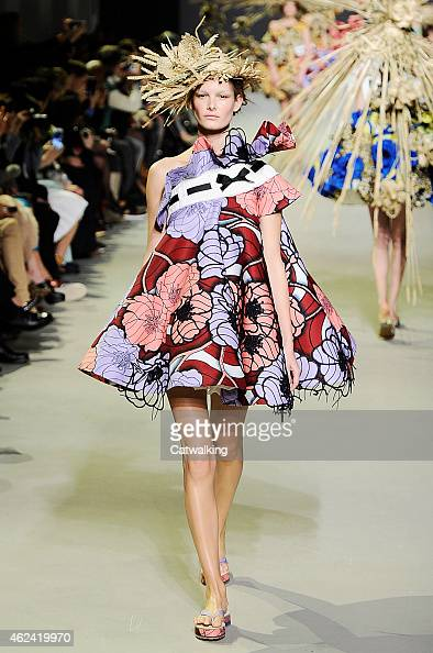 A model walks the runway at the Viktor Rolf Spring Summer 2015 fashion show during Paris Haute Couture Fashion Week on January 28 2015 in Paris France