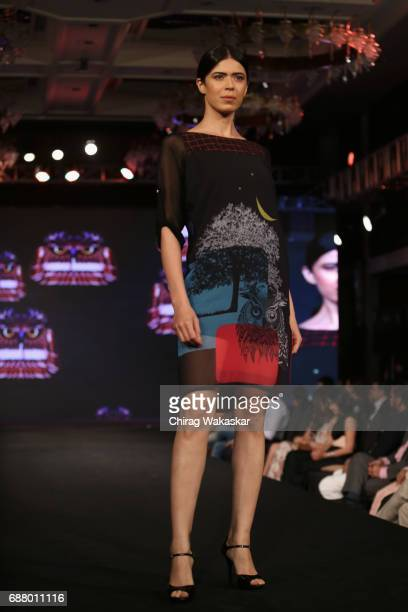 A model walks the runway at the Vivek Mishra show during Shoppers Stop Designer of tghe Year awards 2017 held at Four Seaons on May 24 2017 in Mumbai...