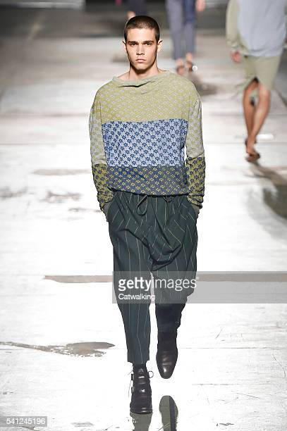 A model walks the runway at the Vivienne Westwood Spring Summer 2017 fashion show during Milan Menswear Fashion Week on June 19 2016 in Milan Italy