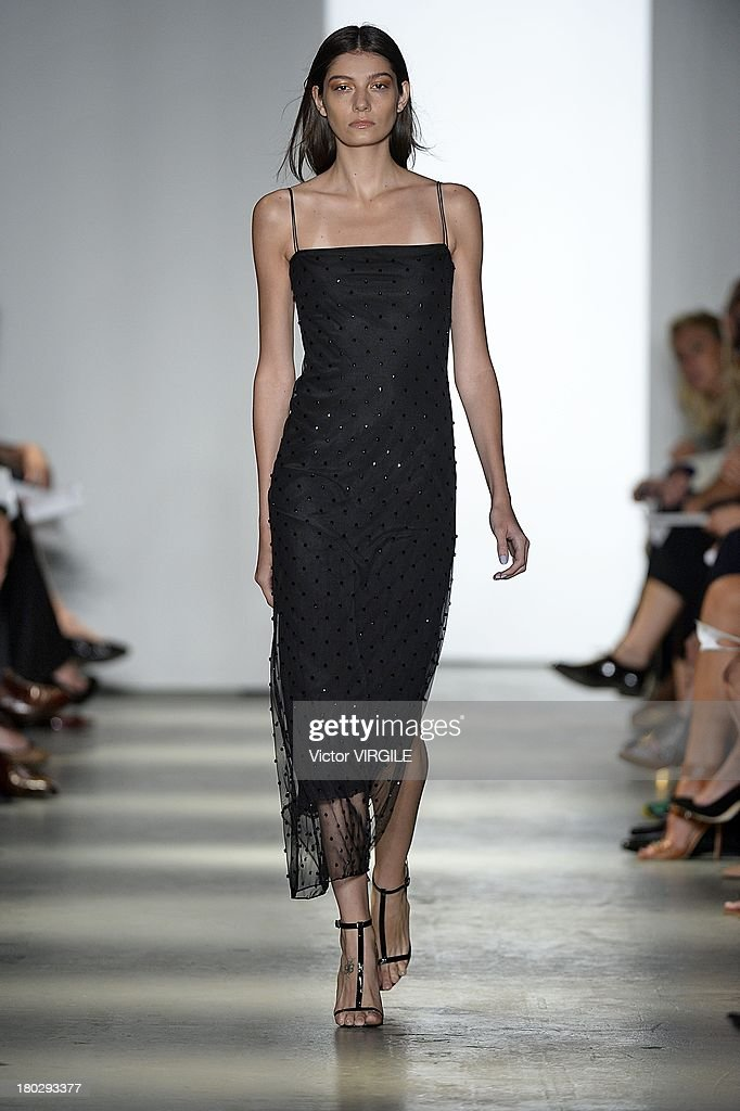 A model walks the runway at the Wes Gordon Presentation during MercedesBenz Fashion Week Spring Summer 2014 on September 10 2013 in New York City