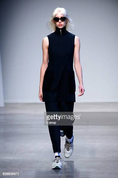 A model walks the runway at the Wood Wood show during Milan Men's Fashion Week Fall/Winter 2017/18 on January 16 2017 in Milan Italy