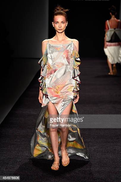 A model walks the runway at the XX fashion show during MercedesBenz Fashion Week Spring 2015 at Lincoln Center on September 8 2014 in New York City