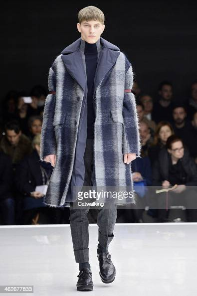 A model walks the runway at the Z Zegna Autumn Winter 2014 fashion show during Milan Menswear Fashion Week on January 14 2014 in Milan Italy