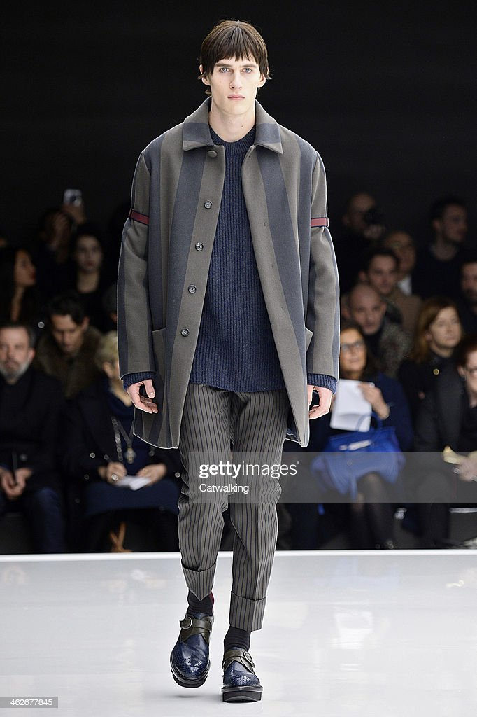 A model walks the runway at the Z Zegna Autumn Winter 2014 fashion show during Milan Menswear Fashion Week on January 14, 2014 in Milan, Italy.