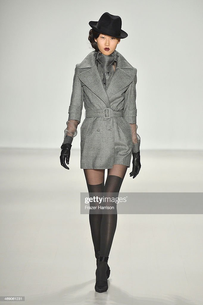 A model walks the runway at the Zang Toi fashion show during Mercedes-Benz Fashion Week Fall 2014 at The Salon at Lincoln Center on February 12, 2014 in New York City.
