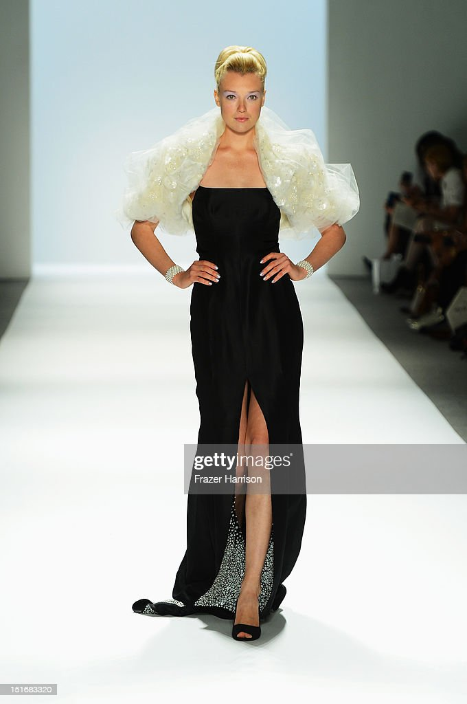 A model walks the runway at the Zang Toi Spring 2013 fashion show during Mercedes-Benz Fashion Week on September 9, 2012 in New York City.