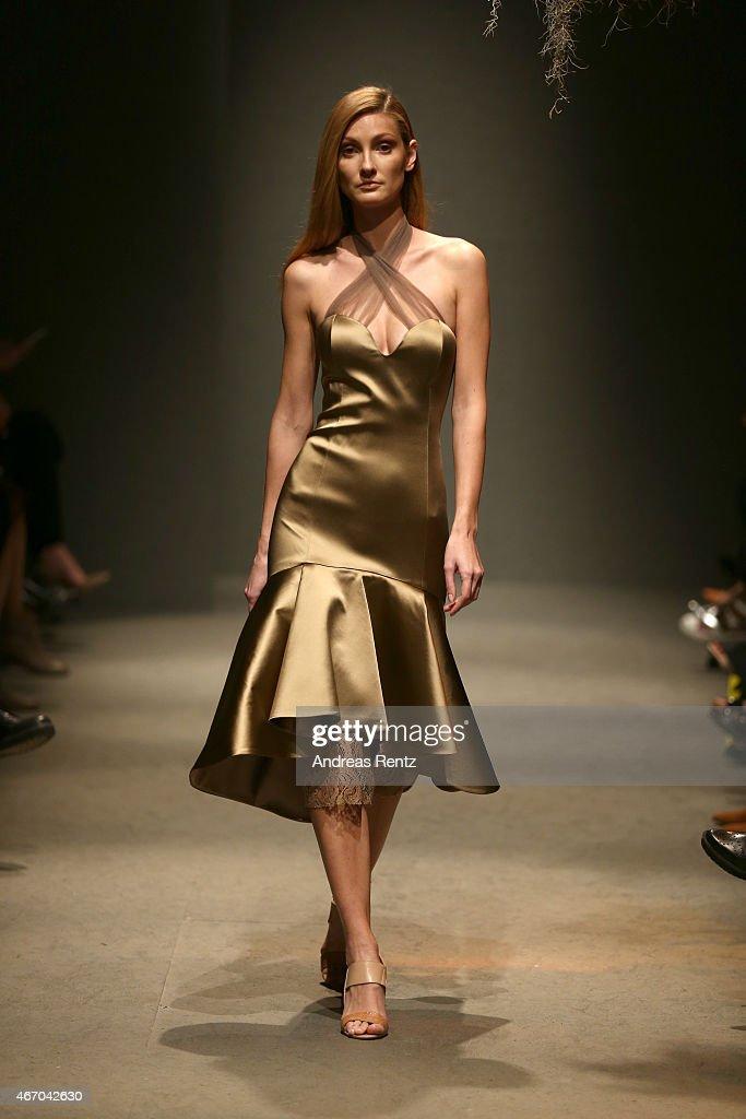 A model walks the runway at the Zeynep Erdogan show during Mercedes Benz Fashion Week Istanbul FW15 on March 20 2015 in Istanbul Turkey