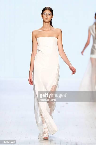 A model walks the runway at the Zien show during MercedesBenz Fashion Days Zurich 2013 on November 13 2013 in Zurich Switzerland