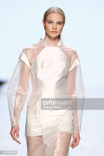 A model walks the runway at the Zien show during MercedesBenz Fashion Days Zurich 2013 on November 13 2013 in Zurich Switzerland