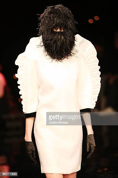 A model walks the runway at Ylang Ylang 2008 Autumn/Winter Fashion Show during Japan Fashion Week in Tokyo at Tokyo Midtown on March 12 2008 in Tokyo...