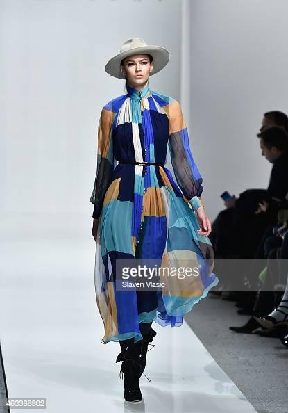 A model walks the runway at Zimmermann fashion show during MercedesBenz Fashion Week Fall 2015 at ArtBeam on February 13 2015 in New York City