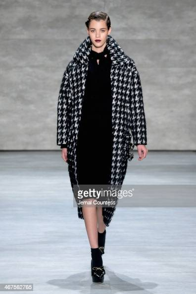 A model walks the runway at Zimmermann fashion show during MercedesBenz Fashion Week Fall 2014 at The Pavilion at Lincoln Center on February 7 2014...