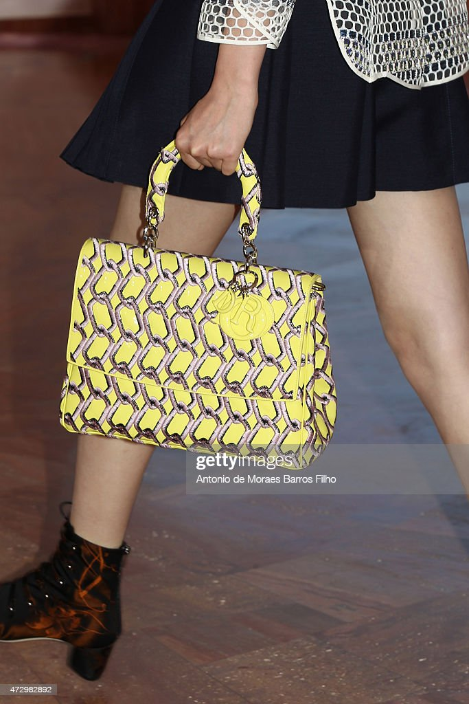 A model walks the runway detail during the Dior Croisiere 2016 show at 'Palais Bulle Bubble Palace' on May 11 2015 in French Riviera France