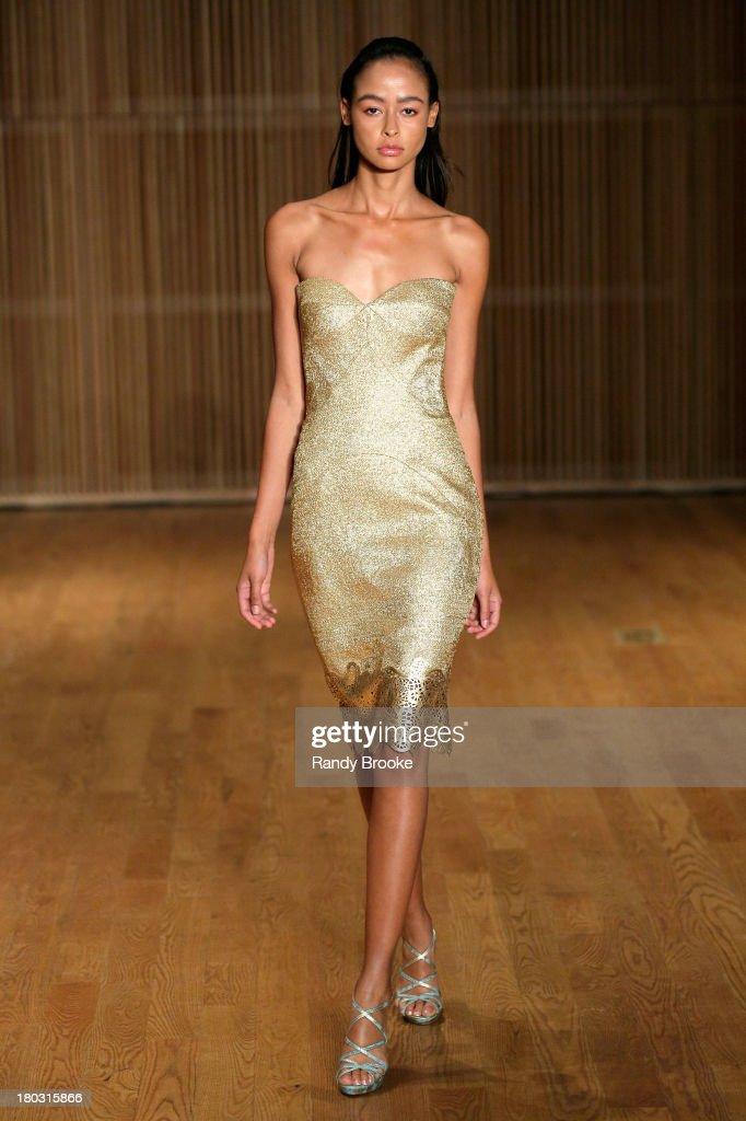 A model walks the runway Douglas Hanannt Spring 2014 Runway Show at DiMenna Center on September 11, 2013 in New York City.