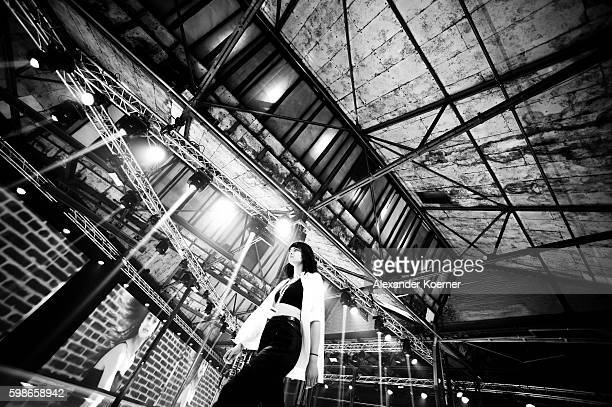A model walks the runway during a rehearsal at the Bread Butter by Zalando at Arena Berlin on September 2 2016 in Berlin Germany