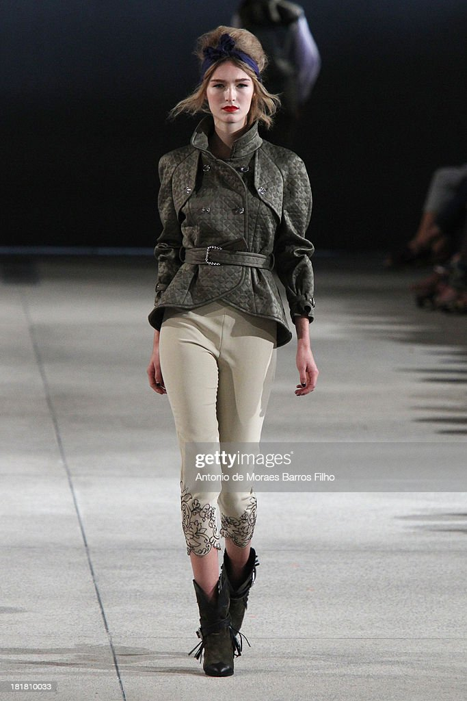 A model walks the runway during Alexis Mabille show as part of the Paris Fashion Week Womenswear Spring/Summer 2014 on September 25, 2013 in Paris, France.