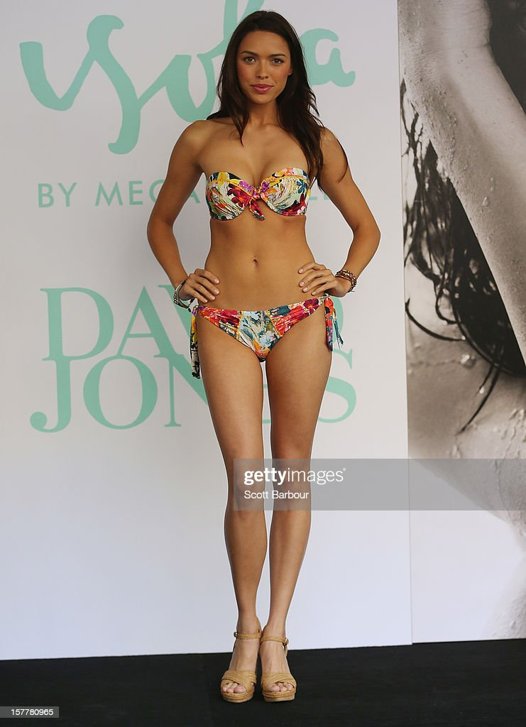 A model walks the runway during an Isola Swimwear range preview event at David Jones Bourke Street on December 6, 2012 in Melbourne, Australia.