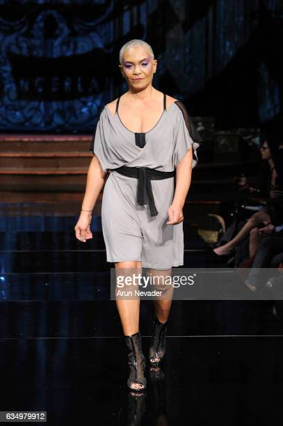 A model walks the runway during AnaOno Intimates X #Cancerland at New York Fashion Week Art Hearts Fashion NYFW FW/17 at The Angel Orensanz...