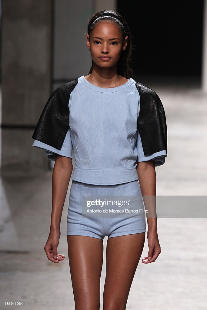A model walks the runway during Barbara Bui show as part of the Paris Fashion Week Womenswear Spring/Summer 2014 on September 26, 2013 in Paris, France.