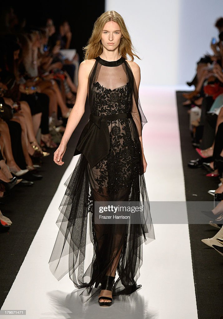A model walks the runway during BCBGMAXAZRIA Spring 2014 fashion show at Mercedes-Benz Fashion Week Spring 2014 - Official Coverage - Best Of Runway Day 1 on September 5, 2013 in New York City.