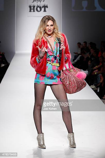 A model walks the runway during Betsey Johnson fashion show part of Style Fashion Week Day 4 at LA Live Event Deck on March 12 2014 in Los Angeles...