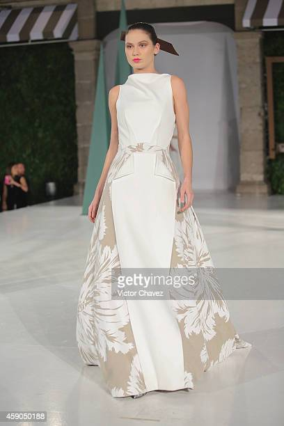 A model walks the runway during Carolina Herrera Presents House Of Herrera at Universidad Del Claustro De Sor Juana on November 14 2014 in Mexico...