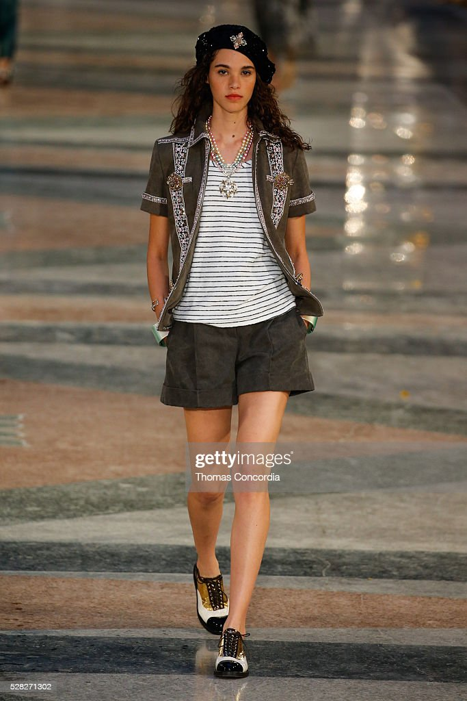 A model walks the runway during Chanel Cruise Collection 2016/2017 on May 3 2016 in Havana Cuba