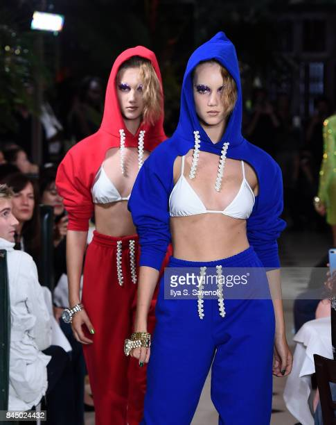 A model walks the runway during Christian Cowan Spring Summer 2018 Fashion Show at Indochine on September 9 2017 in New York City