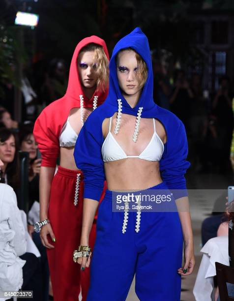 A model walks the runway during Christian Cowan Spring Summer 2018 Fashion Show Indochine on September 9 2017 in New York City