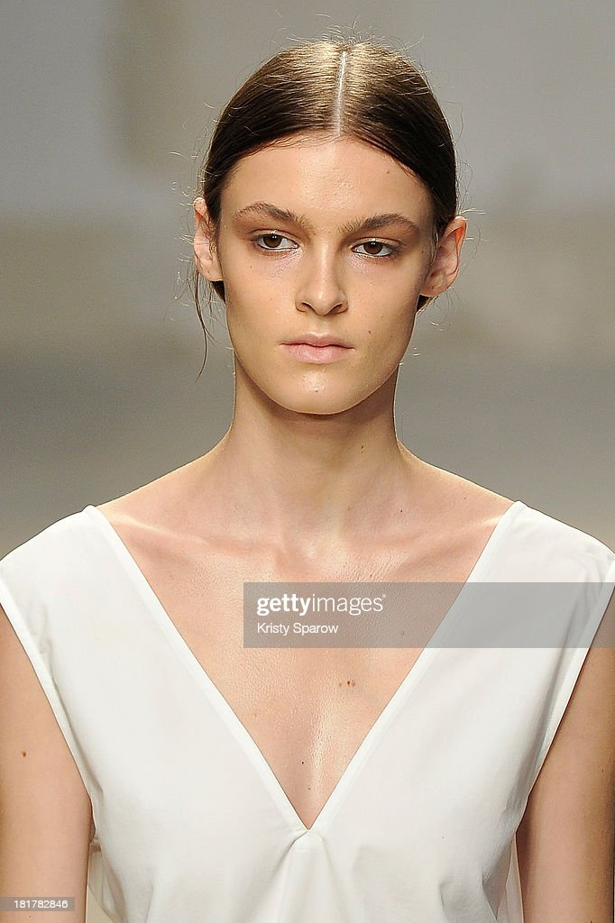 A model walks the runway during Damir Doma show as part of the Paris Fashion Week Womenswear Spring/Summer 2014 on September 25, 2013 in Paris, France.