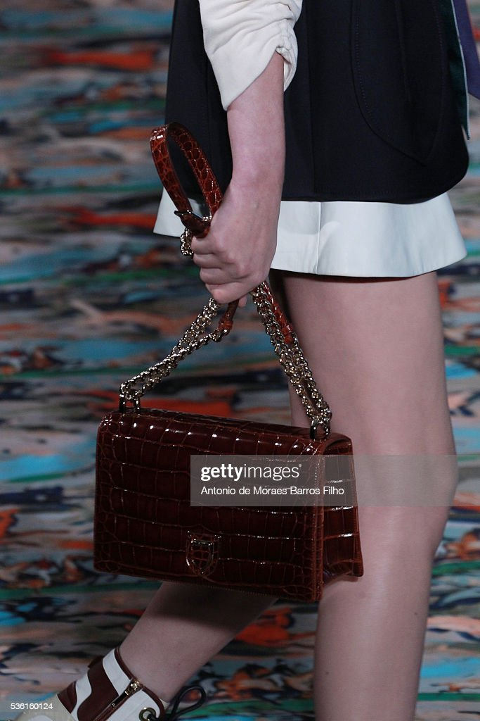 A model walks the runway during, detail, the Christian Dior showcases its spring summer 2017 cruise collection at Blenheim Palace on May 31, 2016 in Woodstock, England.