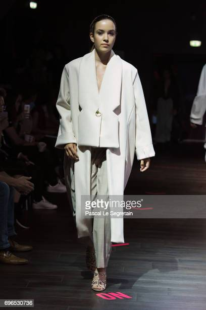 A model walks the runway during Esmod Paris Show 'This Is Us' on June 15 2017 in Paris France