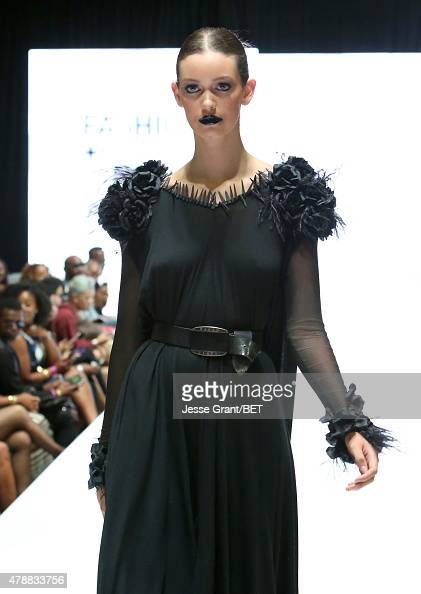 Model walks the runway during Fashion and Beauty @BETX presented by Progressive during the 2015 BET Experience at the Los Angeles Convention Center...
