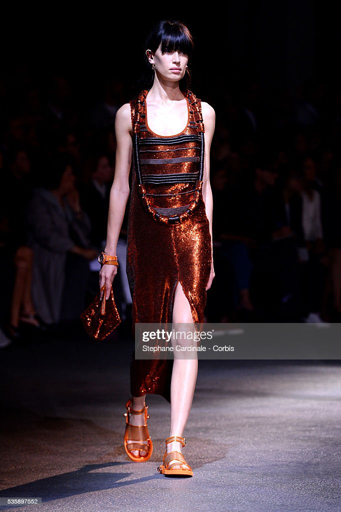 A model walks the runway during Givenchy show, as part of the Paris Fashion Week Womenswear Spring/Summer 2014, in Paris.